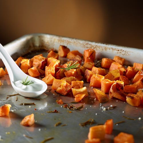 Trinity Frozen Foods Diced Sweet Potatoes Blue Cheese Espuma