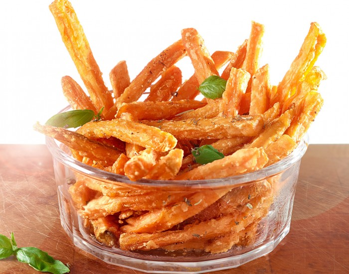 Trinity Frozen Foods Sweet Potato Fries Glass Bowl
